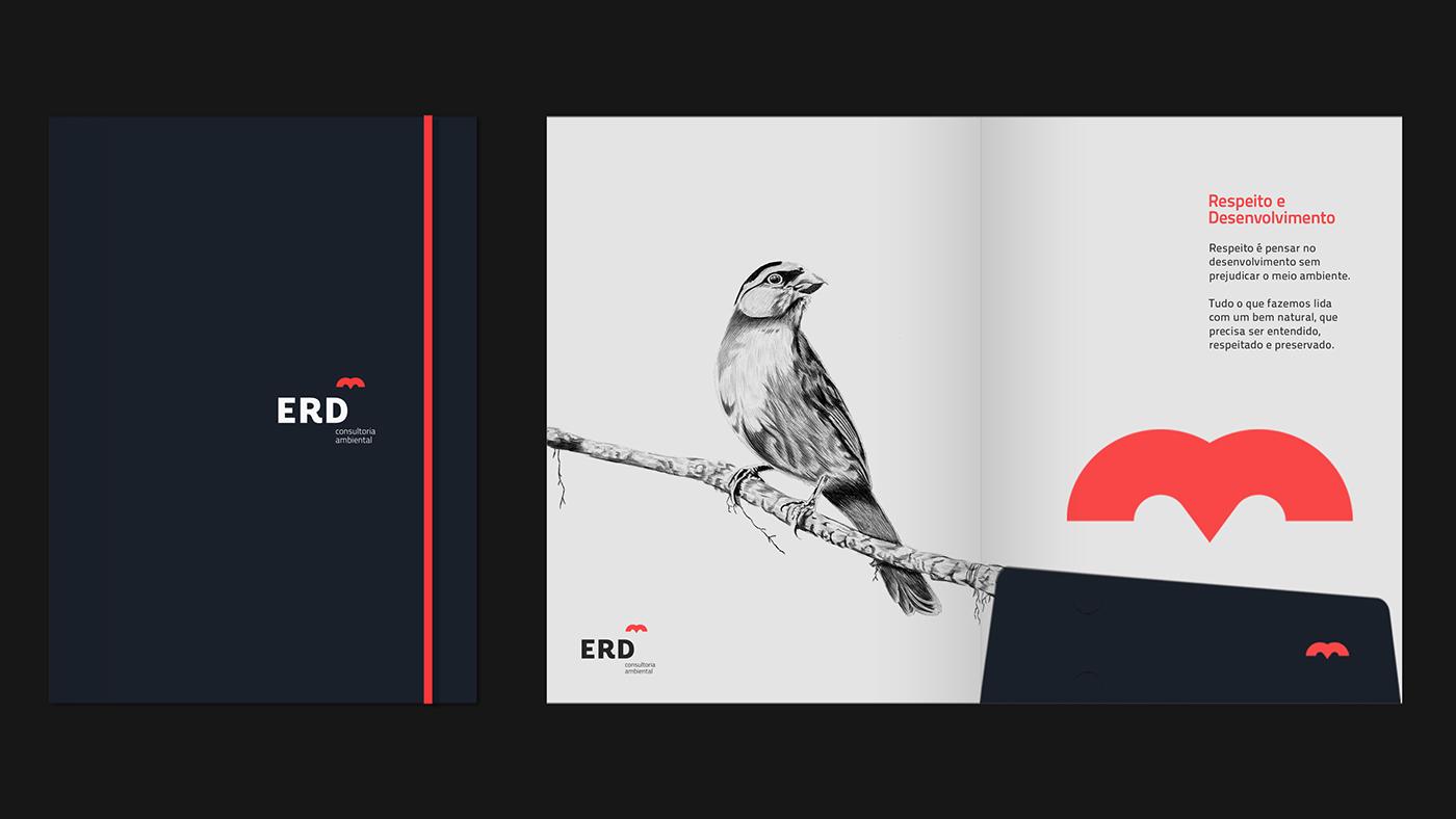 erd环境品牌vis形象设计欣赏-深圳vi设计