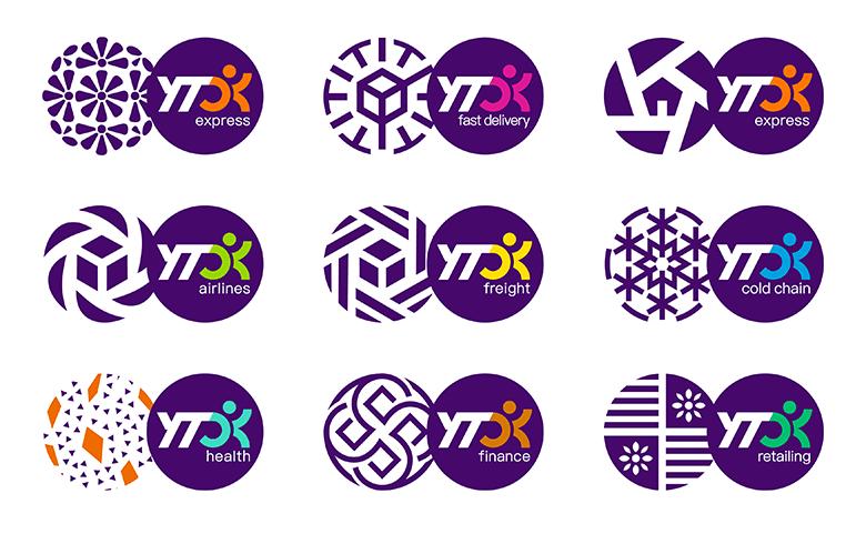 """四通一达中的""""圆通速递""""终于也换了全新的品牌形象了!-深圳VI设计5"""