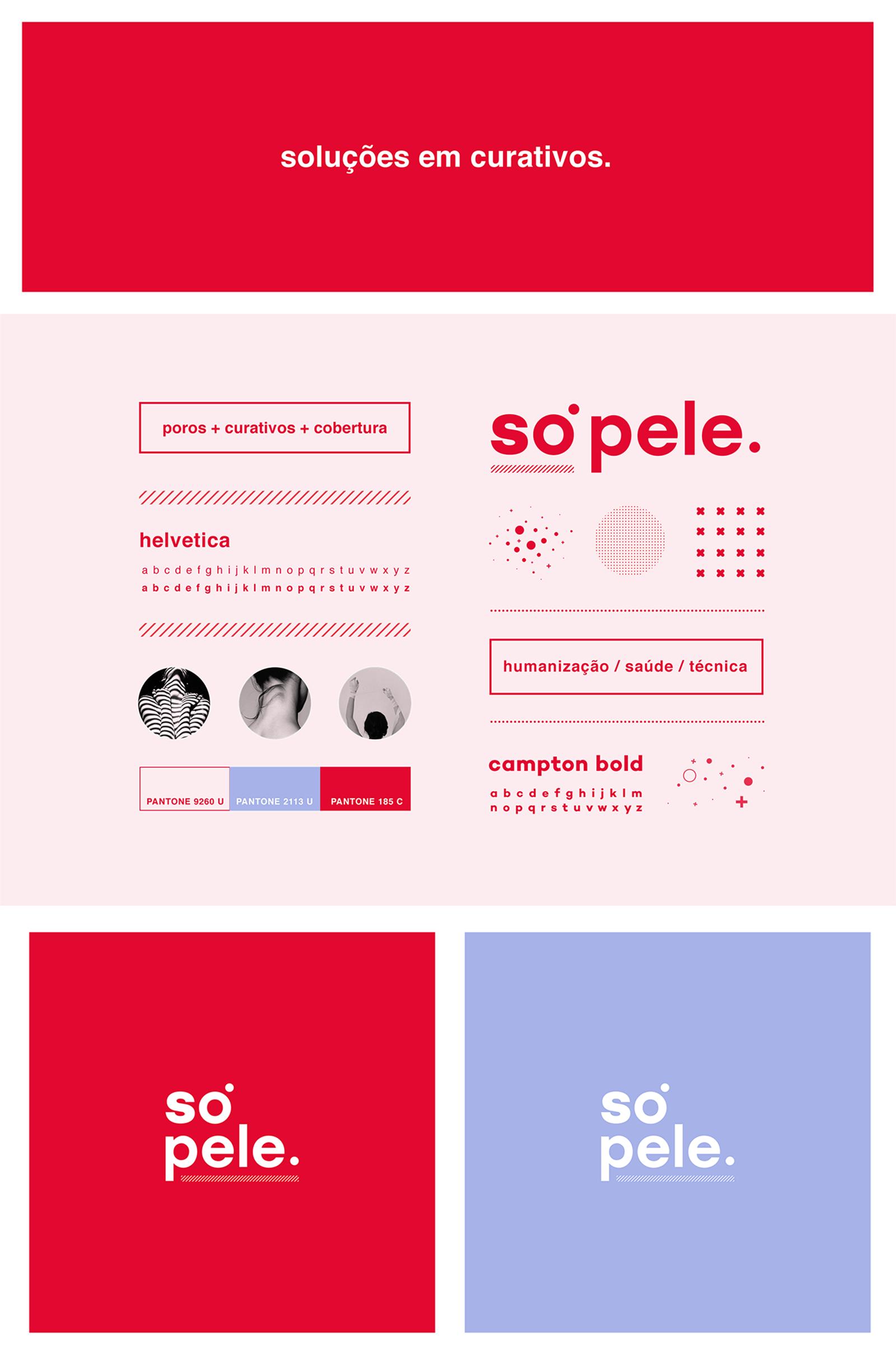 Só Pele 皮肤护理品牌视觉VI形象设计欣赏-深圳VI设计