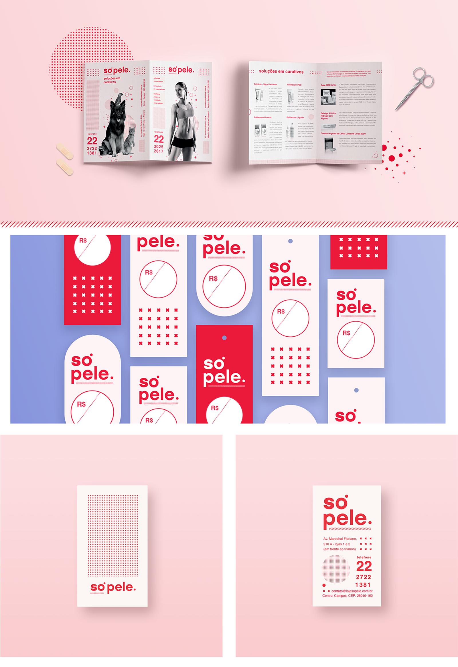 Só Pele 皮肤护理品牌视觉VI形象设计欣赏-深圳VI设计公司