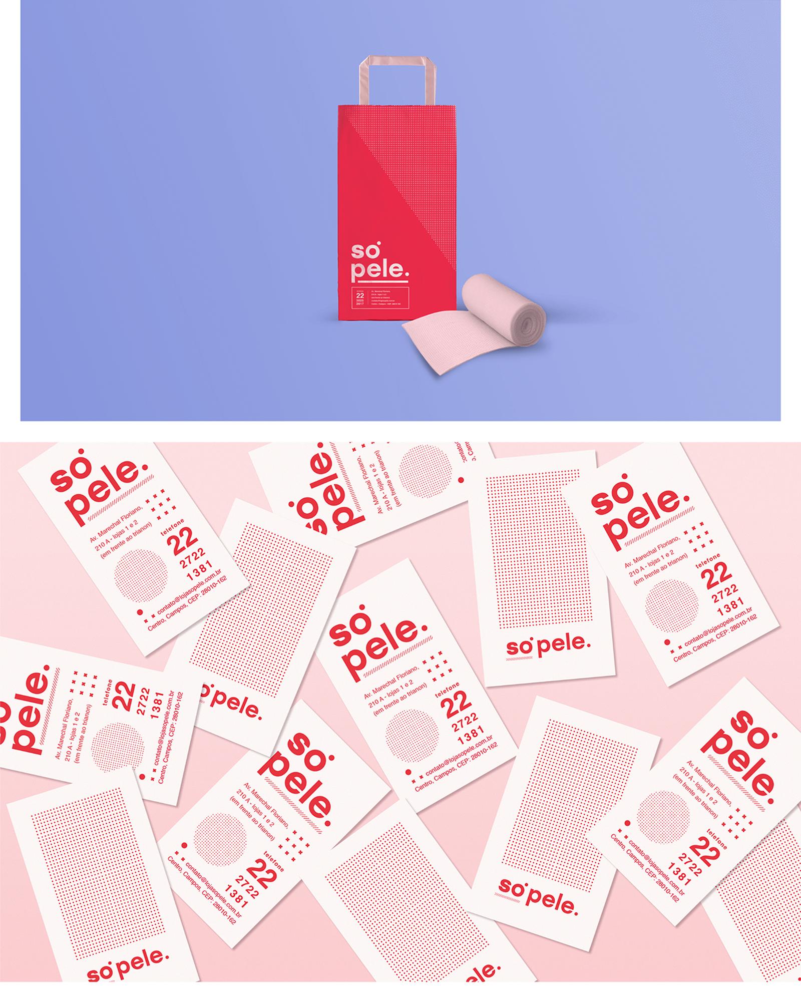 Só Pele 皮肤护理品牌视觉VI形象设计欣赏-VI设计