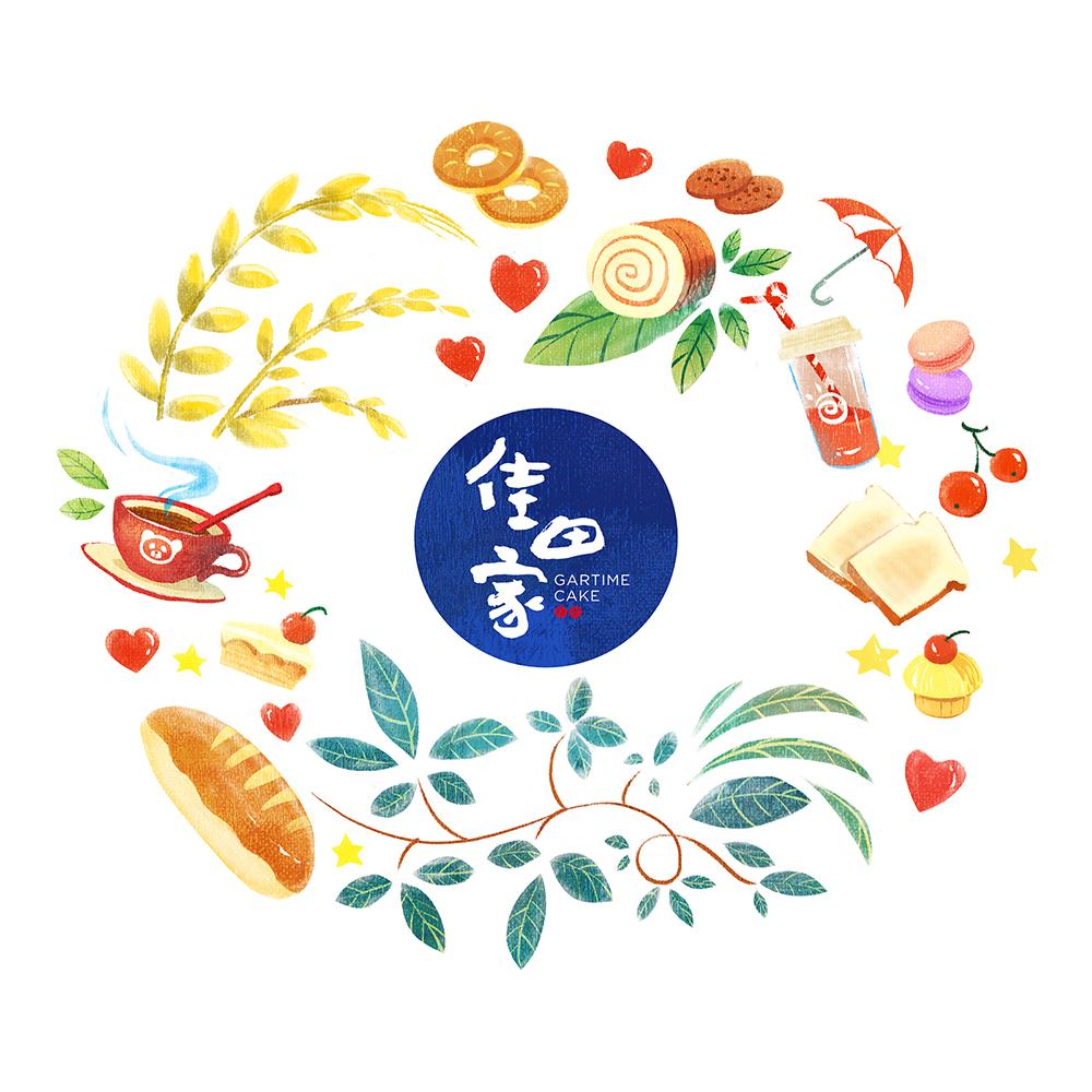 烘焙品牌故事的塑造 - 橙象伙伴佳田家烘焙-深圳VI设计