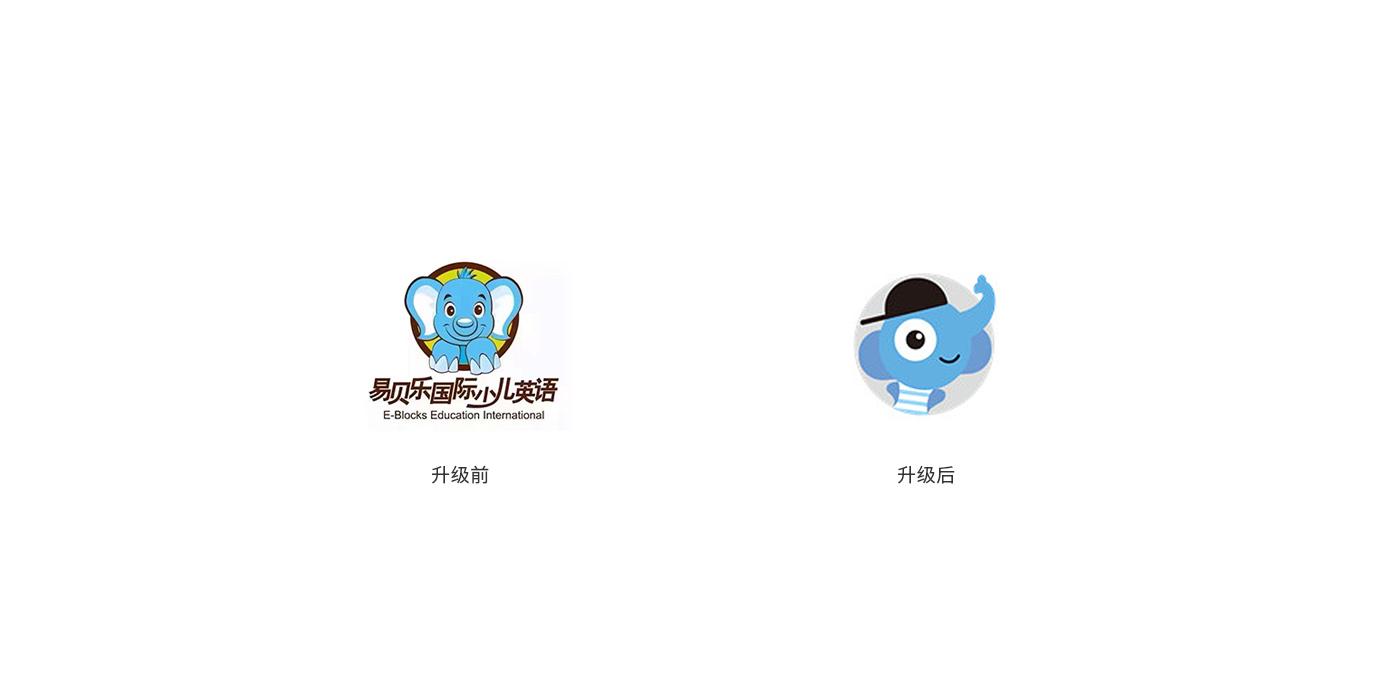 易貝樂少兒英語品牌啟用全新的logo形象1--VI設計