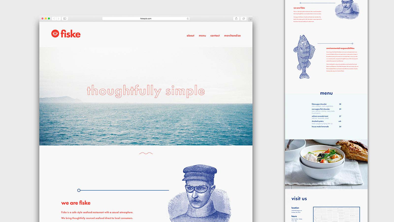 Fiske海鲜餐厅品牌视觉VI形象设计整理欣赏-VI设计2