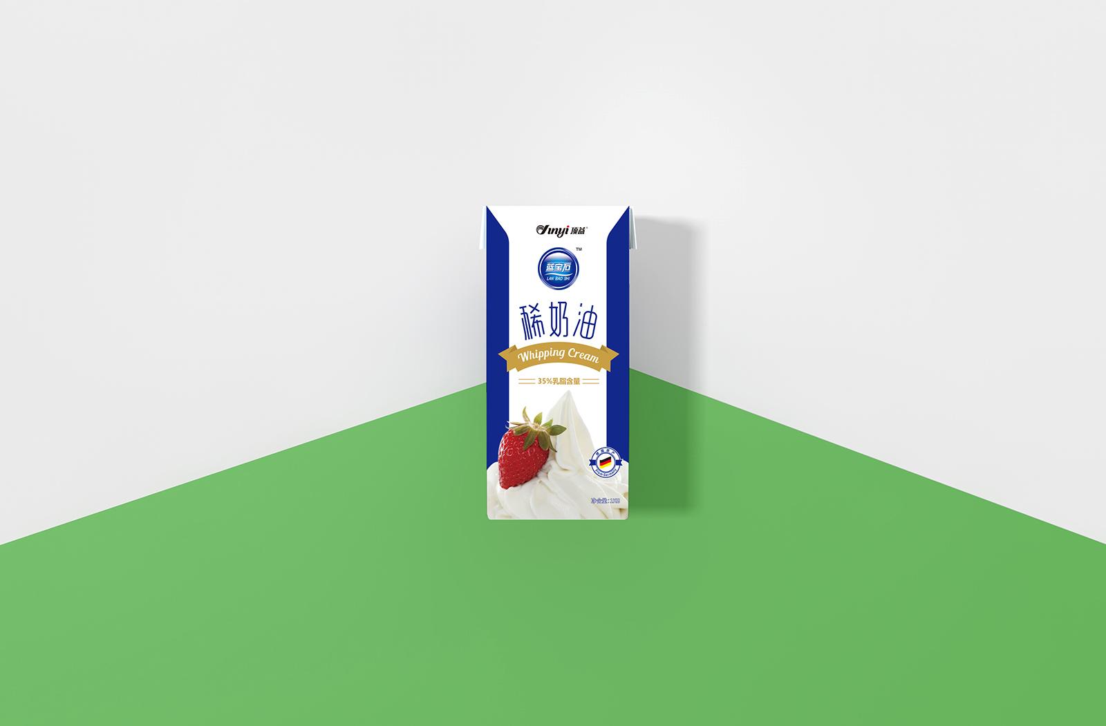 橙象案例-顶益淡奶油品牌包装设计欣赏-VI设计2