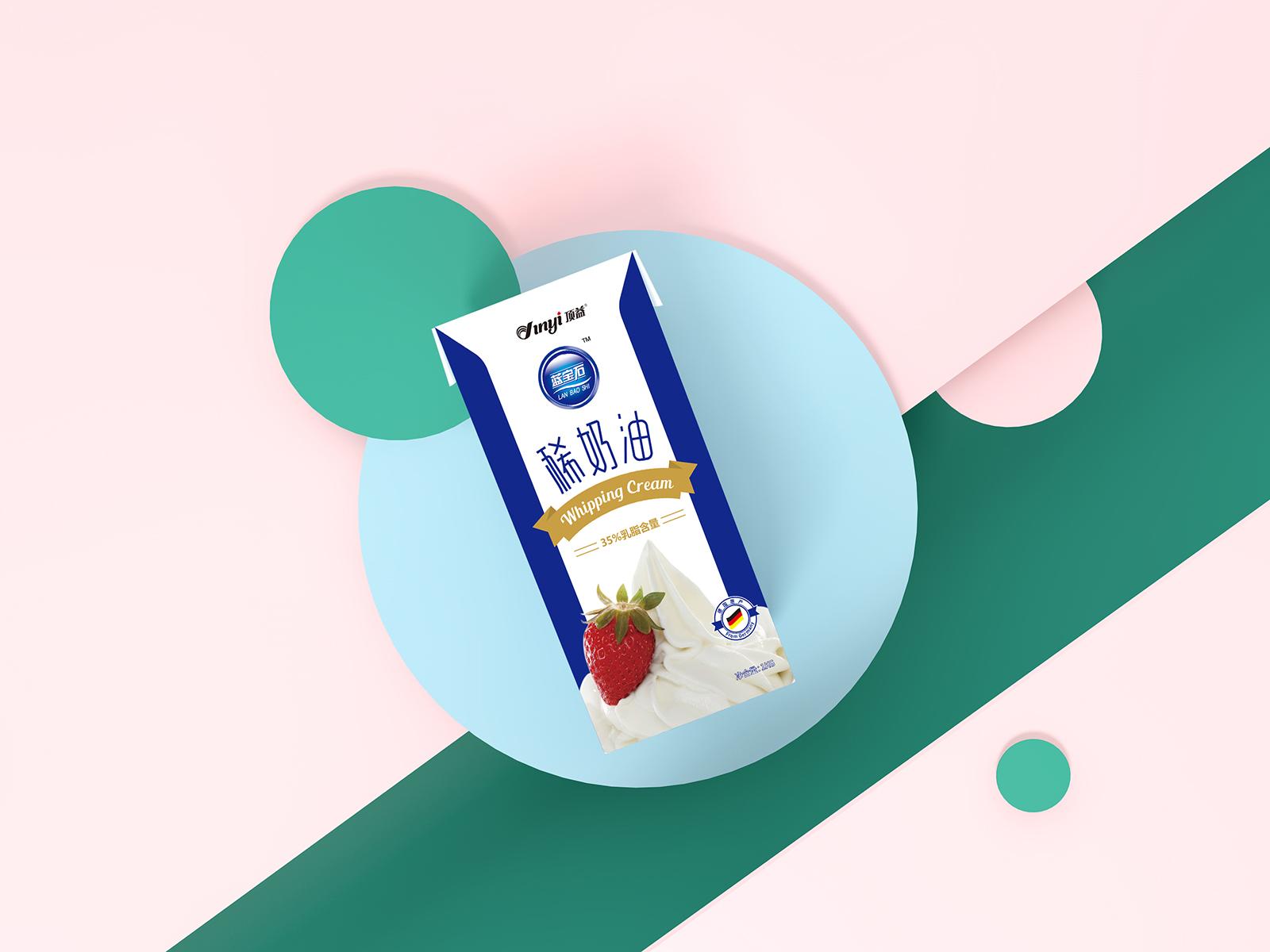 橙象案例-顶益淡奶油品牌包装设计欣赏-VI设计3