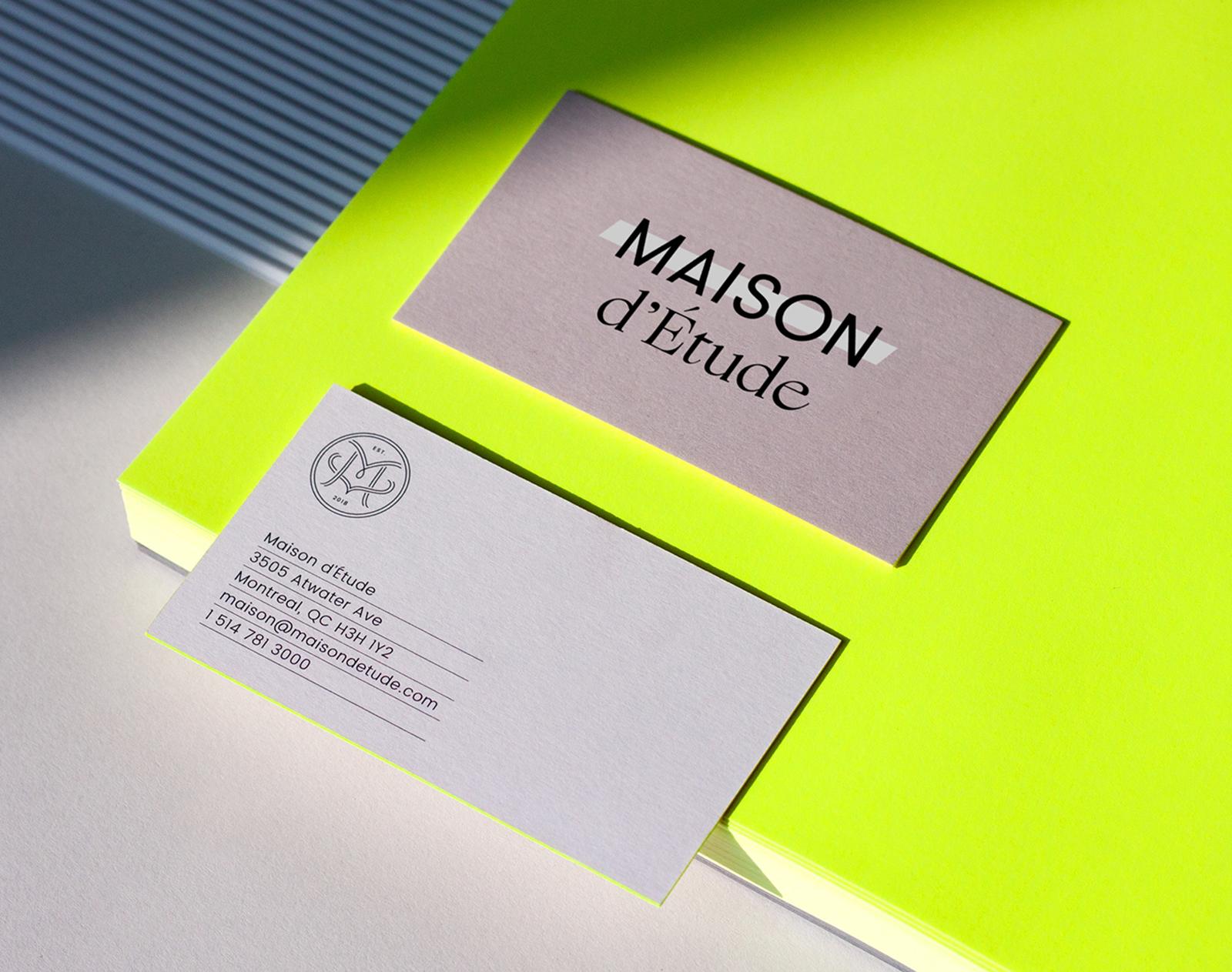 Maison d'Étude 时尚品牌形象设计欣赏-VI设计4