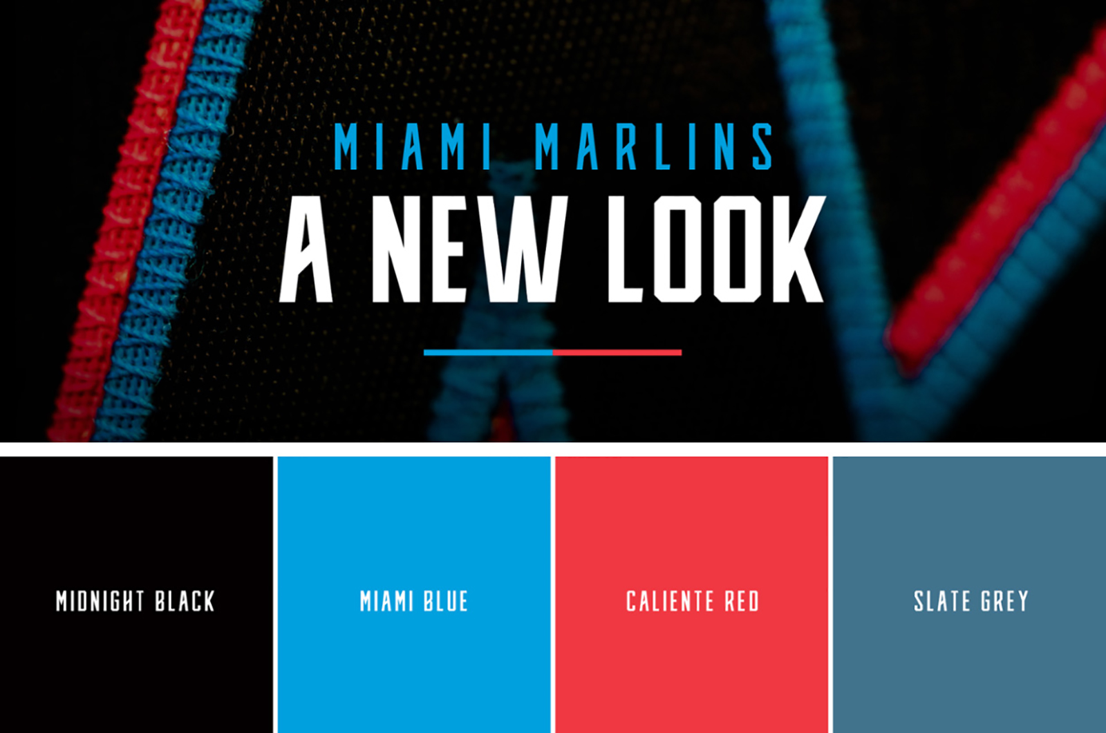 Miami Marlins迈哈密马林鱼棒球联盟启动新LOGO-VI设计4