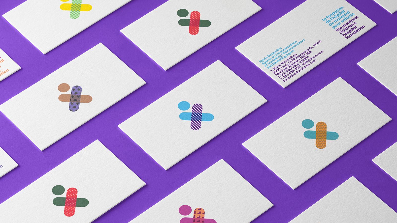 蒙特利爾兒童醫院基金會啟動新的logo和形象-VI設計6