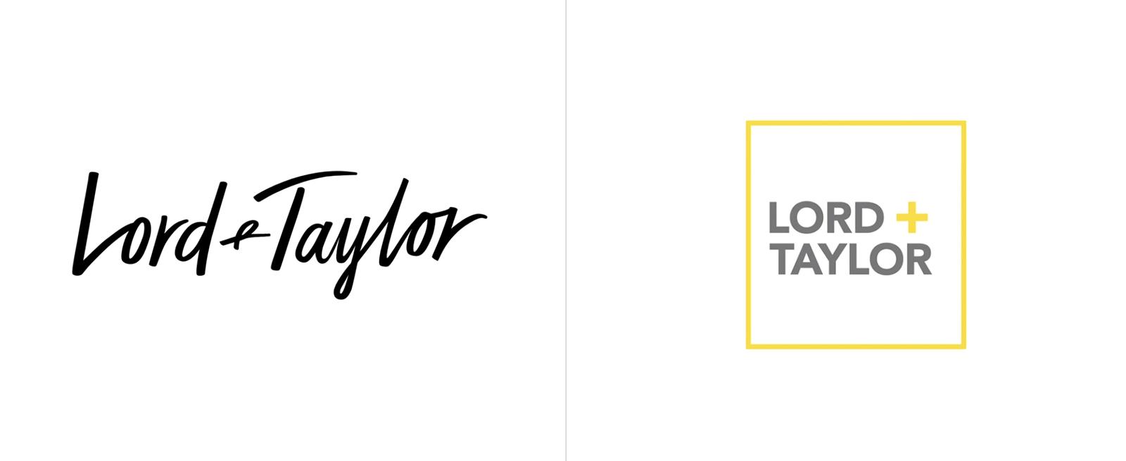 Lord + Taylor连锁商店品牌启用全新的品牌logo设计-深圳vi设计
