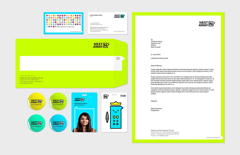 印度Nestaway线上租房平台更新全新的品牌VI设计-深圳VI设计15