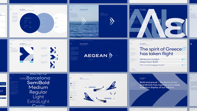 AEGEAN愛琴海航空公司啟用全新的品牌VI視覺形象設計-深圳VI設計4