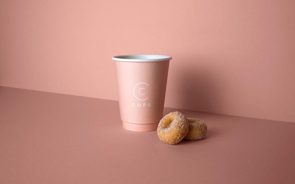 企业品牌VI设计专业公司橙象分享COPS咖啡厅品牌视觉形象-VI设计物料