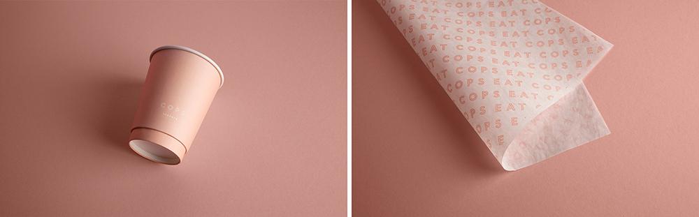企业品牌VI设计专业公司橙象分享COPS咖啡厅品牌视觉形象-VI设计呈现