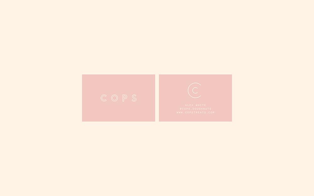 企业品牌VI设计专业公司橙象分享COPS咖啡厅品牌视觉形象-VI设计名片
