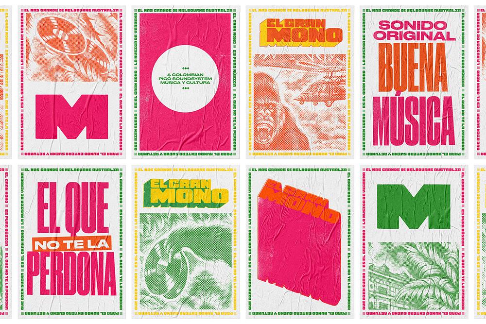 深圳企业VI设计公司整理发布哥伦比亚El Gran Mono音响品牌VI设计-VI设计物料