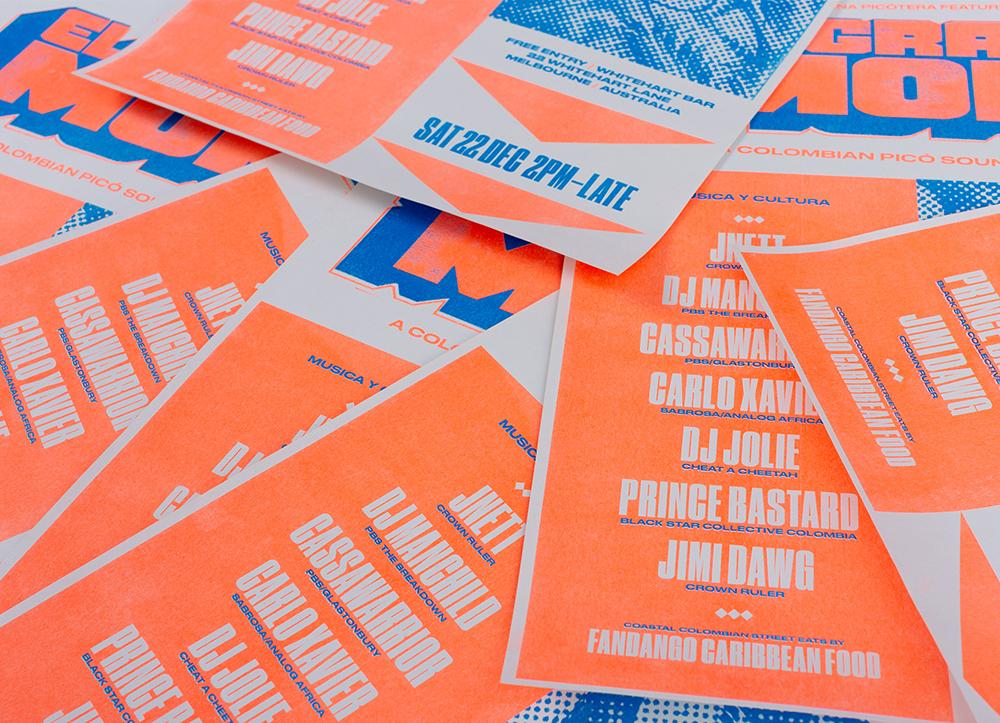 深圳企业VI设计公司整理发布哥伦比亚El Gran Mono音响品牌VI设计-海报设计