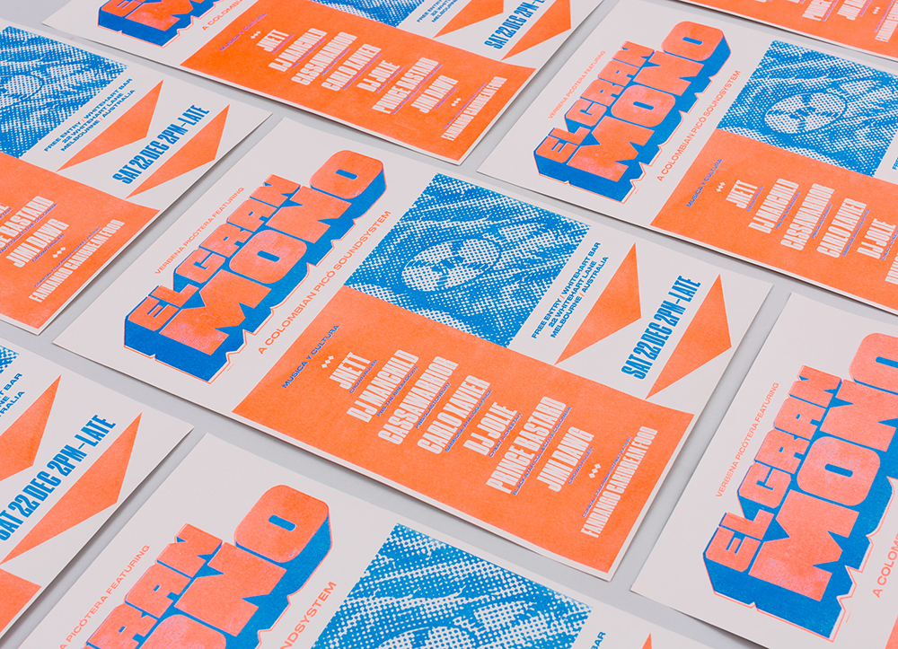 深圳企业VI设计公司整理发布哥伦比亚El Gran Mono音响品牌VI设计-宣传物料设计