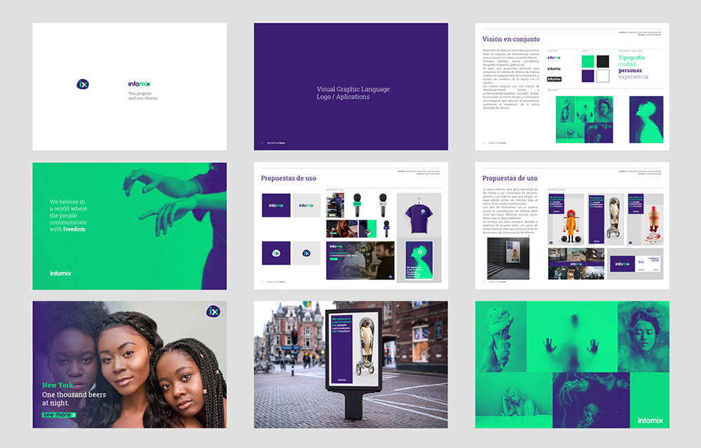 深圳科技品牌VI设计:InfoMix品牌视觉形象设计-科技公司VI设计系统