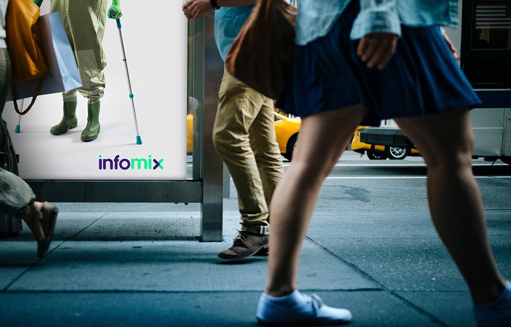 深圳科技品牌VI设计:InfoMix品牌视觉形象设计-科技公司标志设计