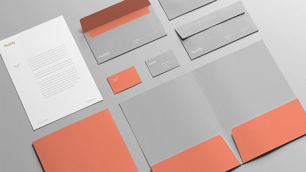 深圳品牌策划设计公司更新Multify and Prevify金融服务公司品牌VI设计_VI系统设计