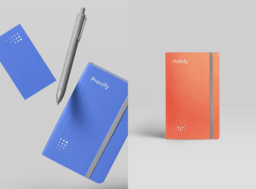 深圳品牌策划设计公司更新Multify and Prevify金融服务公司品牌VI设计_VI宣传品设计