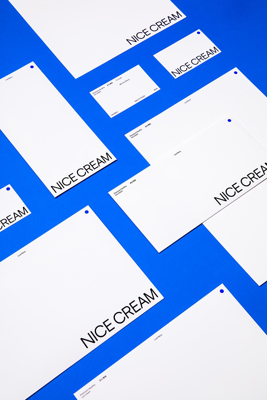 深圳VI設計公司整理 NICE CREAM 奈似雪糕品牌設計案例-企業VI設計