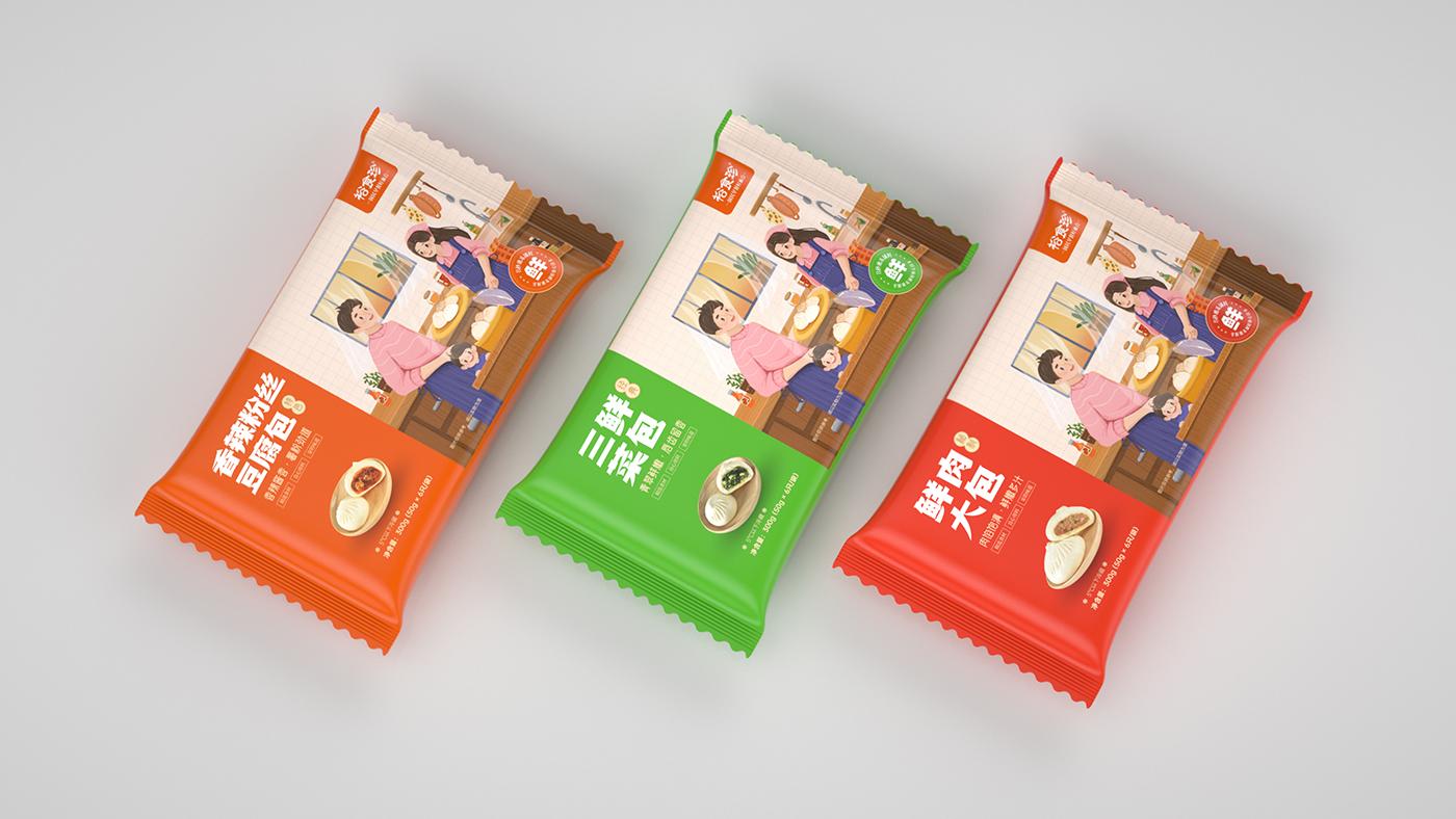 南京和善园旗下品牌VI与包子设计:裕食珍早点品牌-面点VI设计